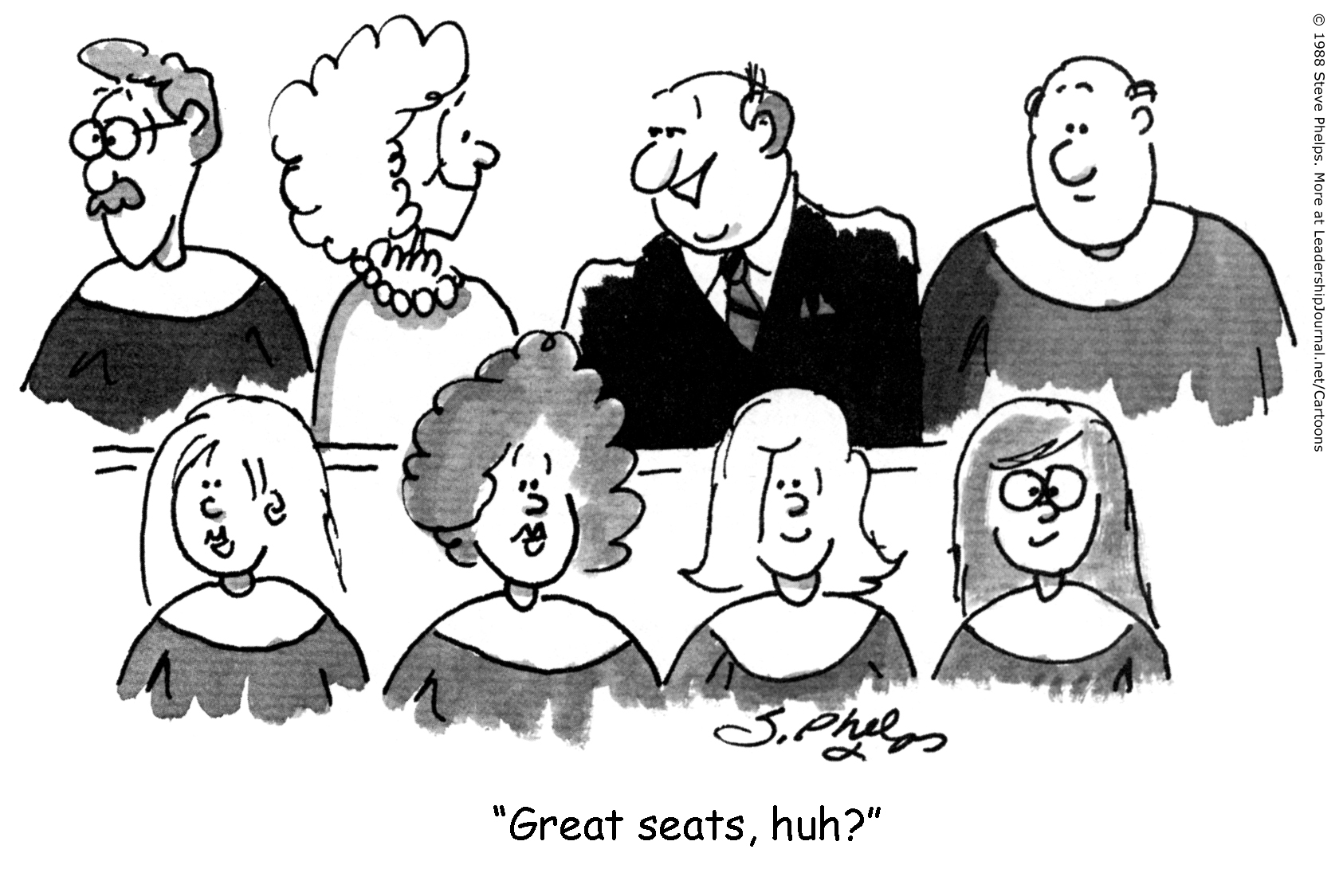 accidental choir members preaching today